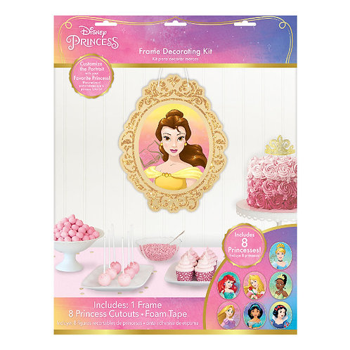 Disney Princess Glitter Wall Frame and Cutout Decoration Kit