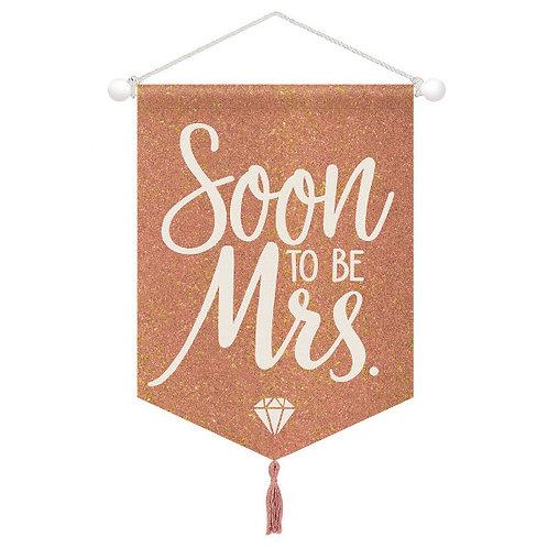 Blush Wedding Hanging Canvas Sign