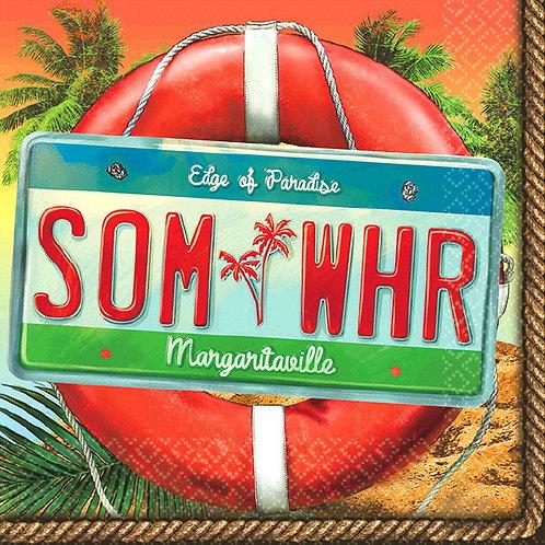 Margaritaville SOM-WHR Beverage Napkins 36ct