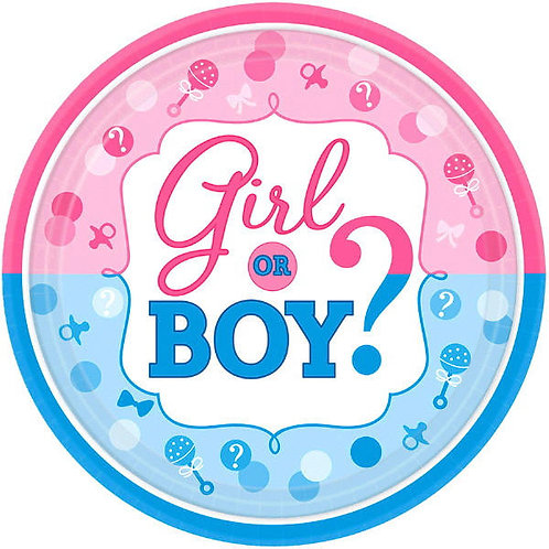 Girl or Boy? Plates 8ct