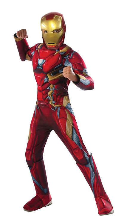 Child Iron Man Deluxe Muscle Costume