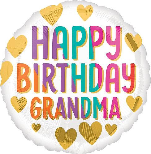 #349 Happy Birthday Grandma 18in Balloon