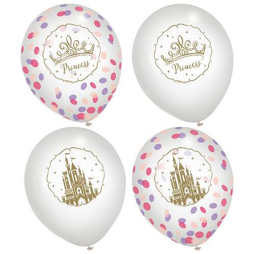 Disney Princess Latex Confetti Balloons 6ct
