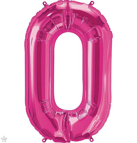 Magenta 34in Number Balloon