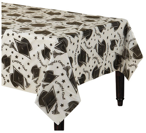 """Graduation Clear Table Cover 54"""" x 108"""""""