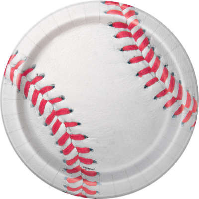 "Baseball Round 7"" Dessert Plates 8ct"