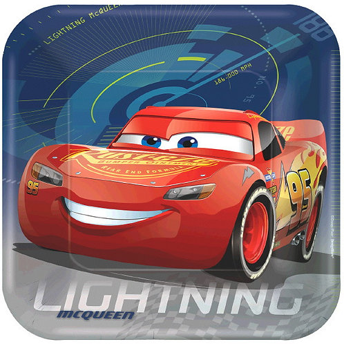 CARS 3 Lunch Plates 8ct