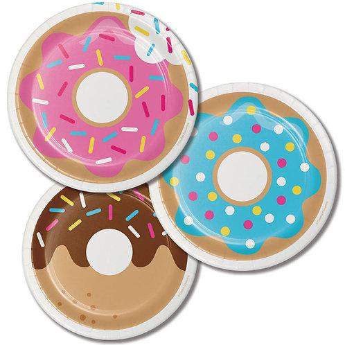 Donut Time Dessert Plates 8ct