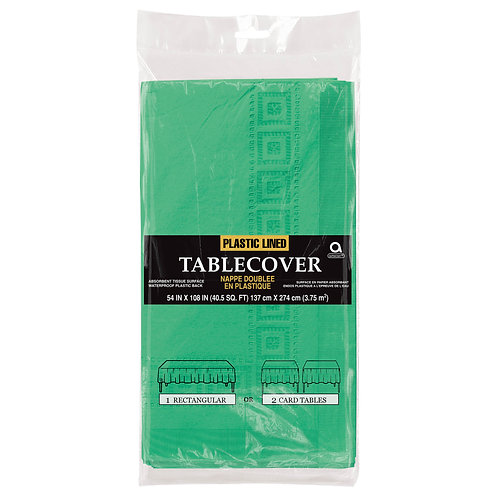 """Green Paper Table Cover 54"""" x 108"""""""