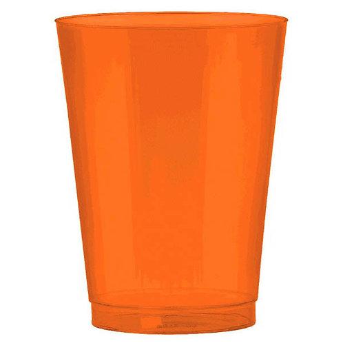 Orange 10oz Plastic Cups 72ct