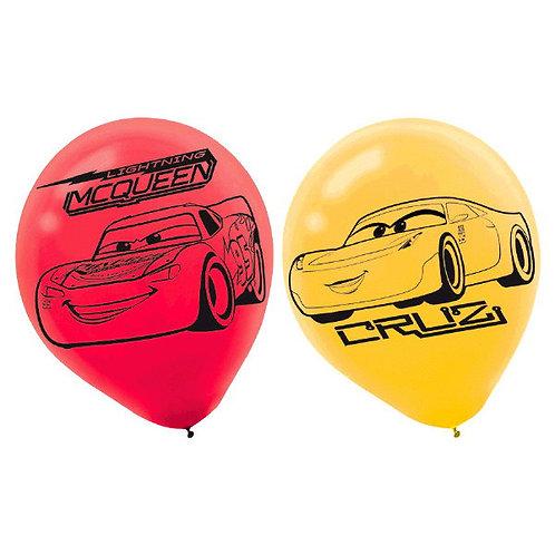 CARS 3 Printed Latex Balloons 6ct