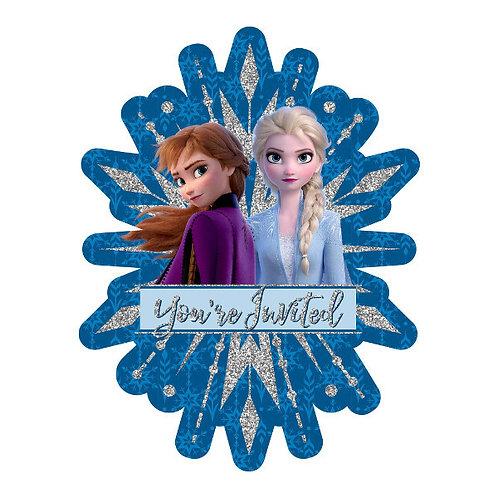 Frozen 2 Jumbo Deluxe Invites 8ct