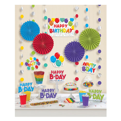 Birthday Celebration Room Decorating Kit