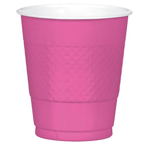 Bright Pink 12oz Plastic Cups 20ct