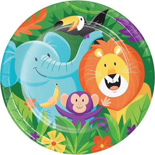 Jungle Safari Lunch Plates 8ct