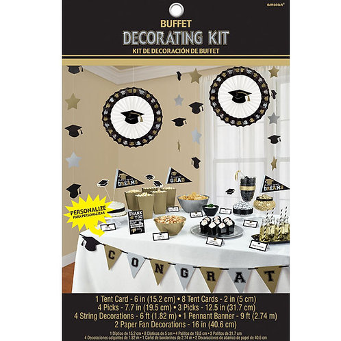 Grad Candy Buffet Decorating Kit - B/S/G