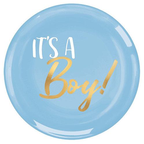 It's a Boy Premium Plastic Plates 20ct