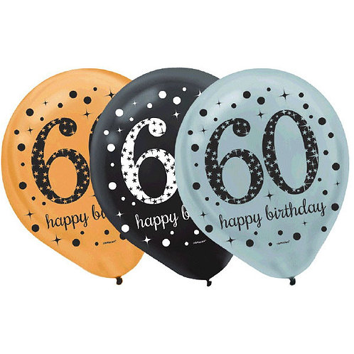 Sparkling Celebration 60 Latex Balloons 15ct