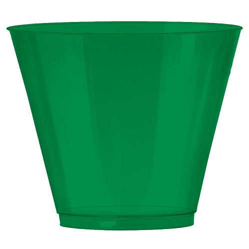 Green 9oz Plastic Cups 72ct