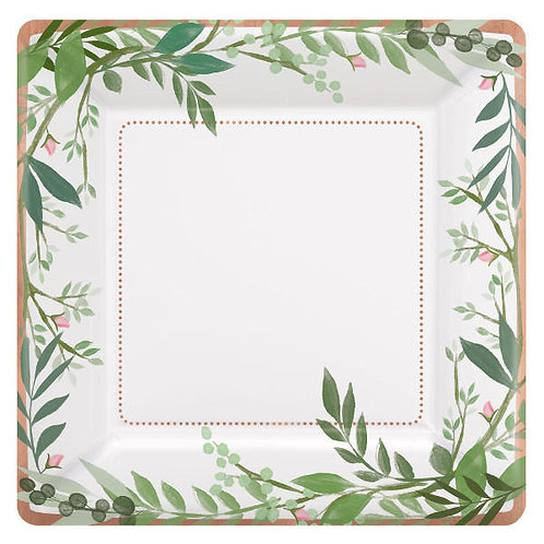 Love And Leaves Dessert Plates 8ct