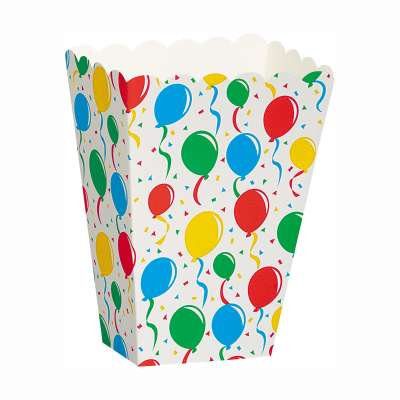 Balloons Scalloped Treat Boxes 8ct