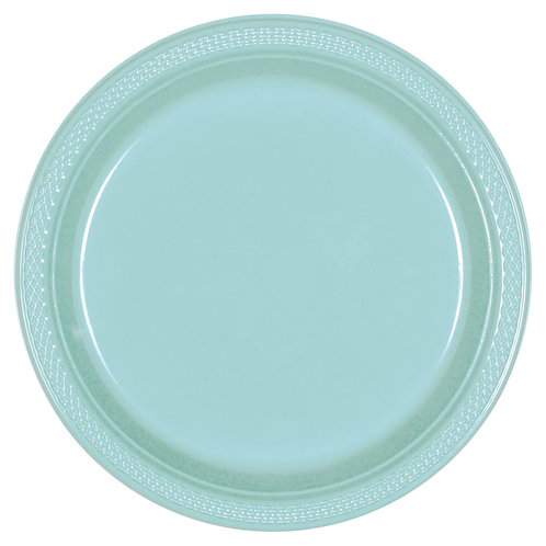 Robins Egg Blue 10in Plastic Plates 20ct