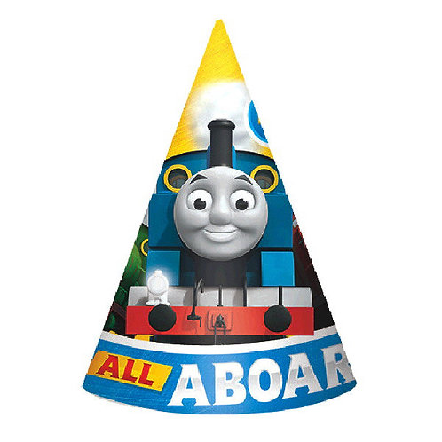 Thomas All Aboard Paper Cone Hats 8ct
