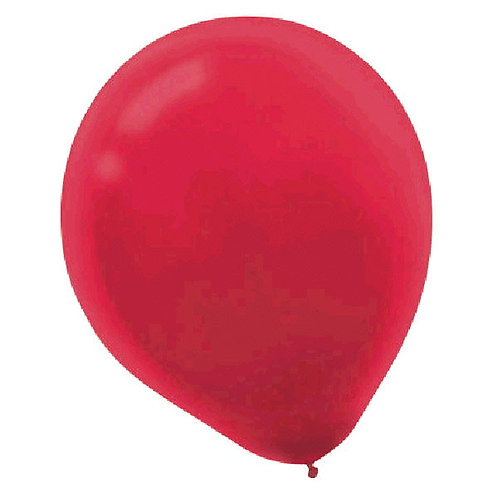 Inflated Red Latex Balloon