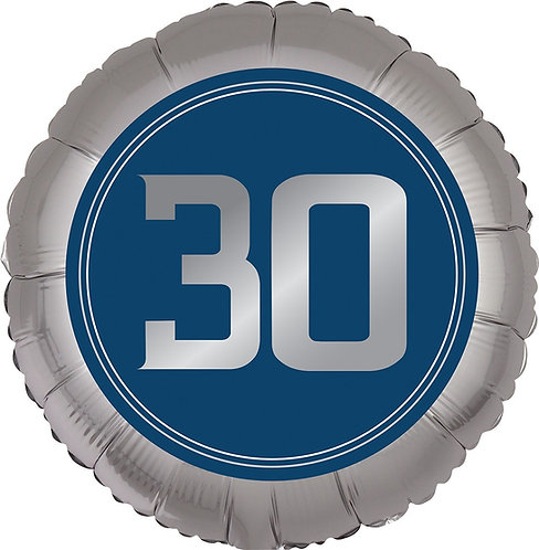 #365 Happy Birthday Man 30 18in Balloon