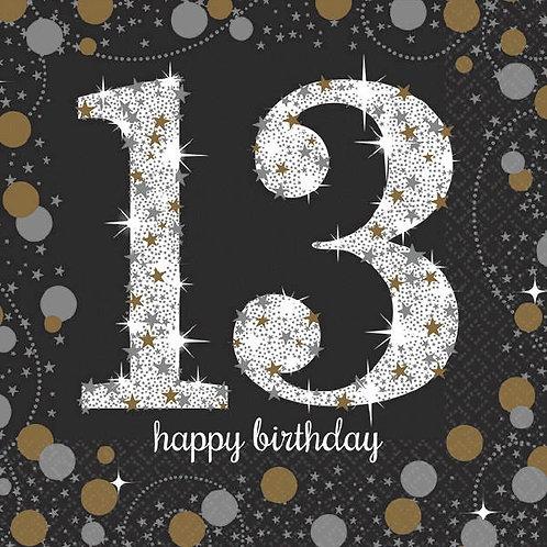 Sparkling Celebration 13 Beverage Napkins 16ct
