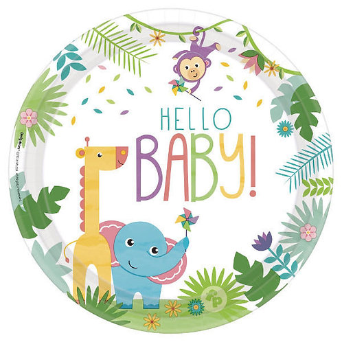Fisher Price Hello Baby Dinner Plates 8ct