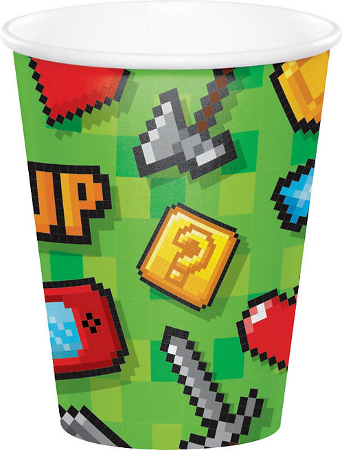 Gaming Party Paper Cups 8ct