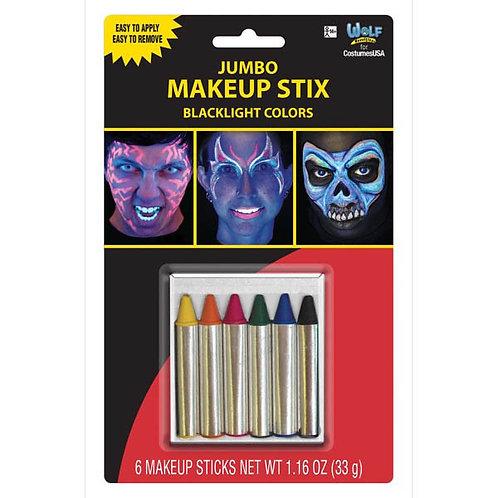 Jumbo Makeup Stix - Blacklight Colors