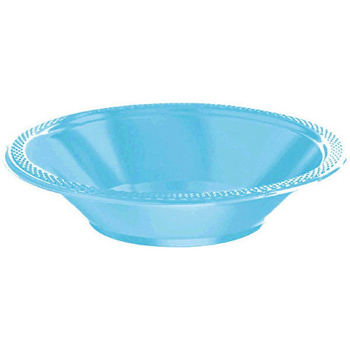 Caribbean Blue 12oz. Plastic Bowls 20ct