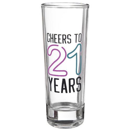 Finally 21 Glass Shot Glass