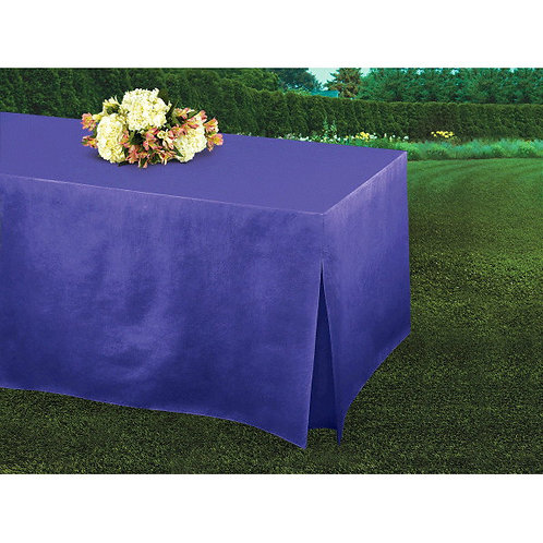 Purple Flannel-Backed Vinyl Fitted Table Cover