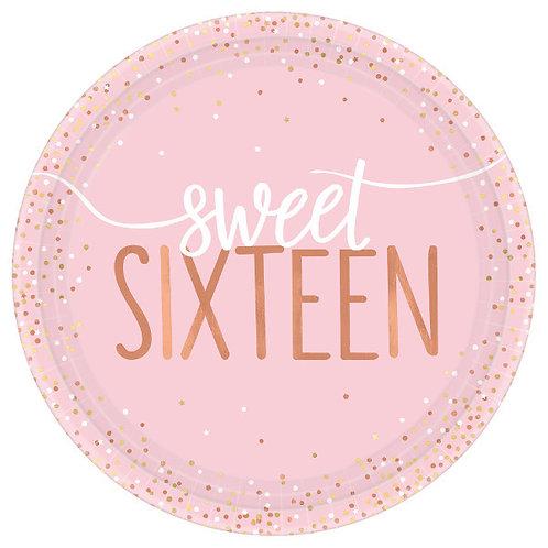 Blush Sixteen 7in Round Plates 8ct