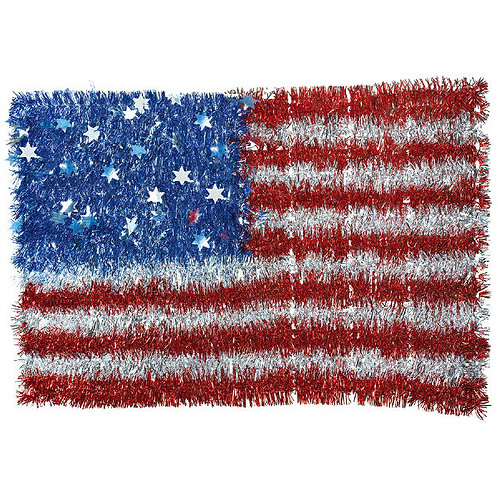 Deluxe Tinsel Flag