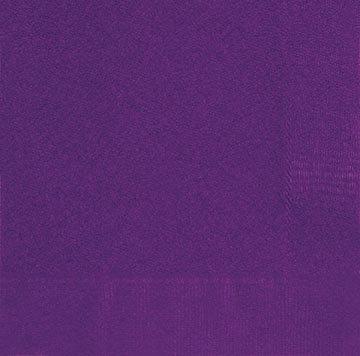 Purple Beverage Napkins 20ct