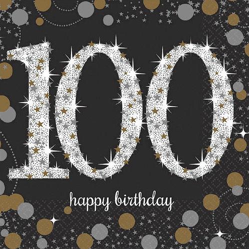 Sparkling Celebration 100 Beverage Napkins 16ct