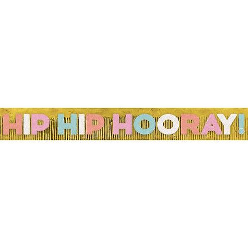 Confetti Fun Foil Fringe Letter Banner