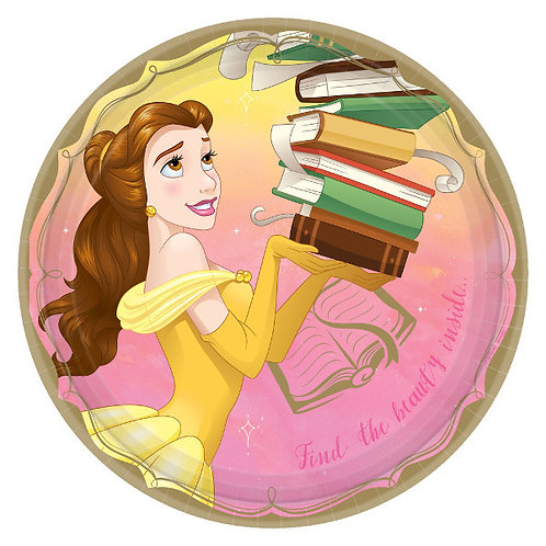 Disney Princess Lunch Plates 8ct - Belle