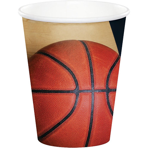 Basketball Paper Cups 8ct
