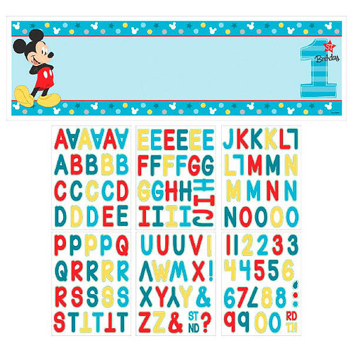 Mickey's Fun To Be One Personalized Giant Banner Kit