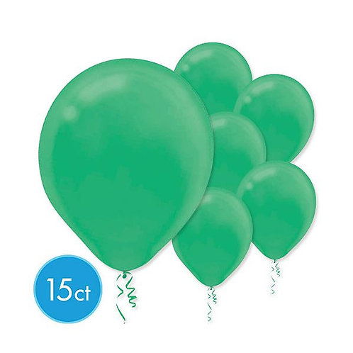 Green Latex Balloons - Packaged, 15ct