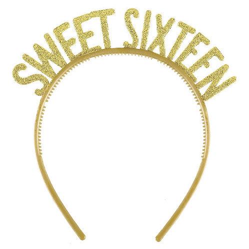 Blush Sixteen Glitter Plastic Headbands 6ct