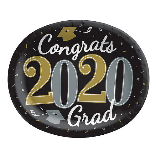 Well Done Grad 12in Oval Plates 18ct