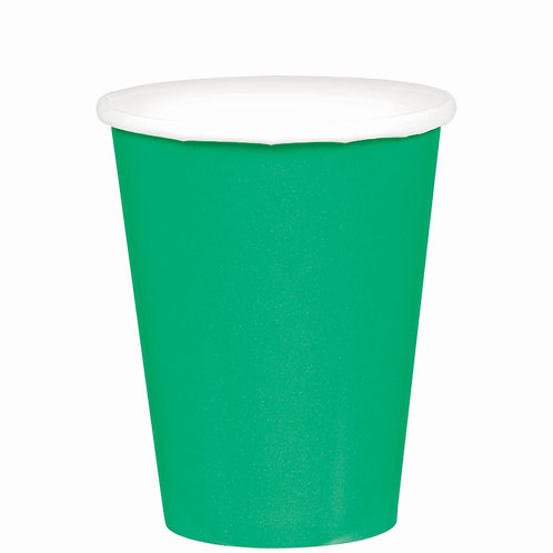 Green 9oz Paper Cups 20ct