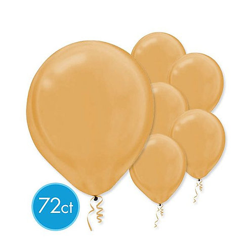 Gold Pearl Latex Balloons - Packaged, 72ct