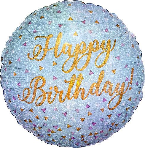 #304 Woo Hoo Birthday Holographic 18in Balloon